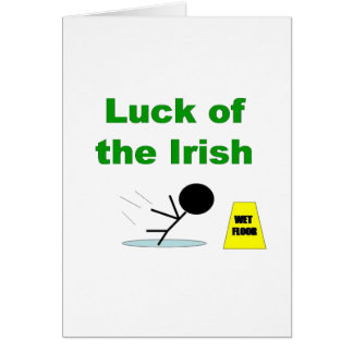 Luck of the Irish.png Greeting Card