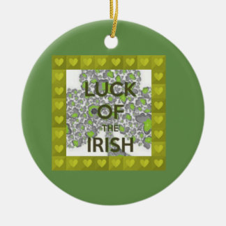 luck of the irish round ceramic decoration
