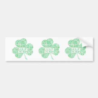 Luck of the Irish Shamrock Bumper Sticker