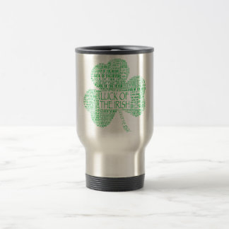 Luck of the Irish Shamrock Travel Mug
