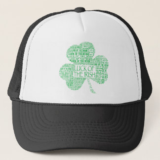 Luck of the Irish Shamrock Trucker Hat