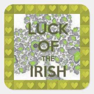 luck of the irish square sticker
