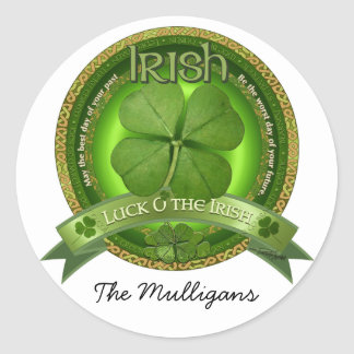 Luck of the Irish - St Patrick's day Classic Round Sticker