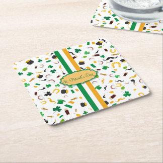 Luck of the Irish- St. Patrick's day irish items Square Paper Coaster