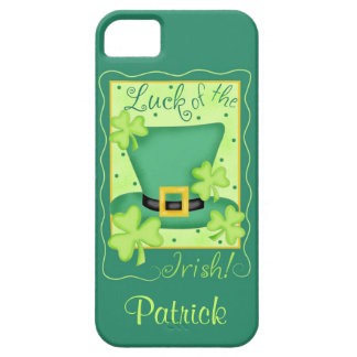 Luck of the Irish St. Patrick's Name Personalized Barely There iPhone 5 Case