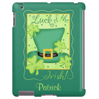 Luck of the Irish St. Patrick's Name Personalized iPad Case