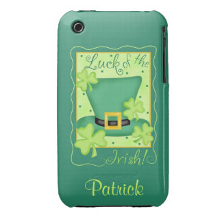 Luck of the Irish St. Patrick's Name Personalized iPhone 3 Covers
