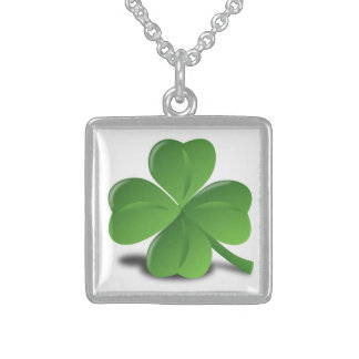 LUCK OF THE IRISH STERLING SILVER NECKLACE