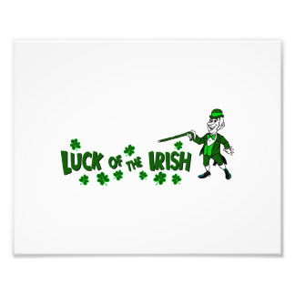 luck of the irish with leprechaun graphic png photo art