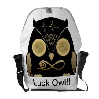 Luck Owl!! eXi Messenger Bags
