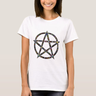 Luck Pentacle on front, 5 Element Pentacle on back T-Shirt