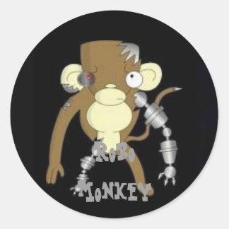 LUCK Robo Monkey Round Sticker