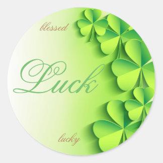 Luck Round Sticker