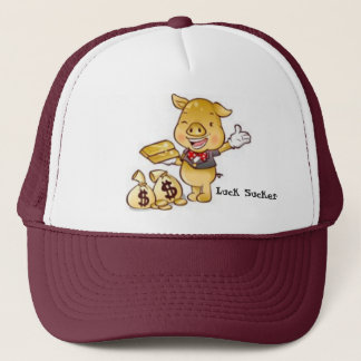 Luck Sucker Money Pig Trucker Hat