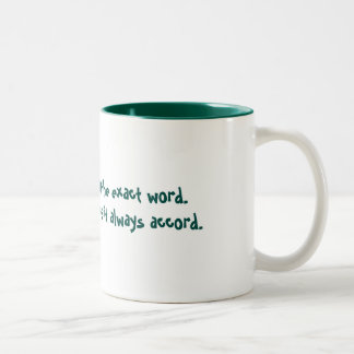 Luckily Passionate Two-Tone Coffee Mug