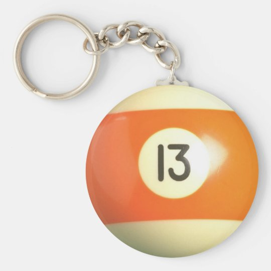 Lucky 13 basic round button key ring