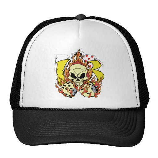 Lucky 13 Dice and Skull Cap