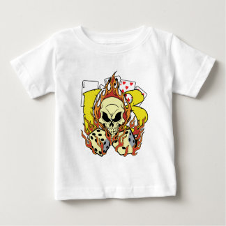 Lucky 13 Dice and Skull Infant T-Shirt