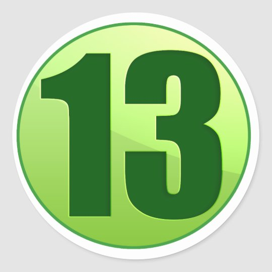 LUCKY 13 GREEN PRODUCTS CLASSIC ROUND STICKER