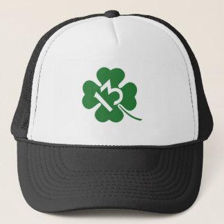Lucky 13 shamrock trucker hat