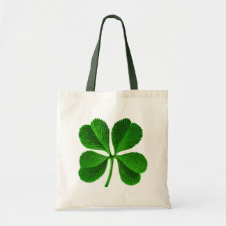 Lucky 4 Leaf Clover Budget Tote Bag