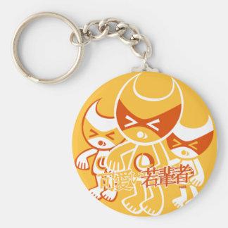 Lucky 7 Mascot Basic Round Button Key Ring