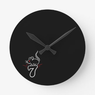 Lucky 7 mouse Wall Clock