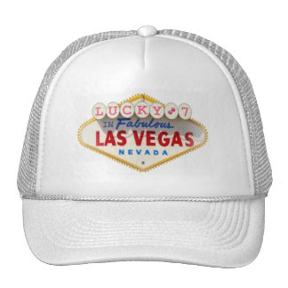 Lucky 7 with Pink Dice In Fabulous Las Vegas Cap