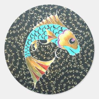Lucky Amulet Good Fortune Symbol Round Sticker