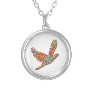 Lucky ANGEL Bird - Perfect Goodluck GIFT Round Pendant Necklace
