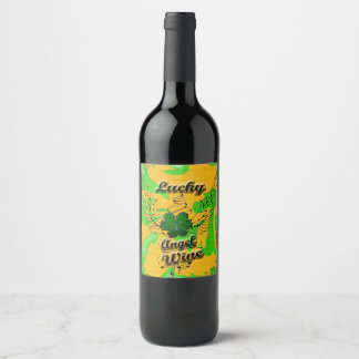 Lucky Angel Wine labels