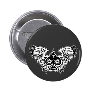 Lucky Angry Winged Spade 7 Pinback Buttons