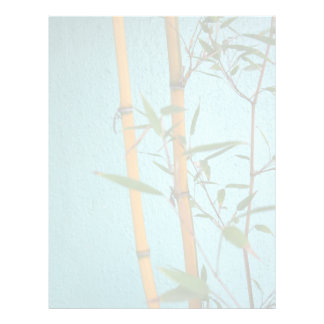 Lucky Bamboo Background Paper Flyer