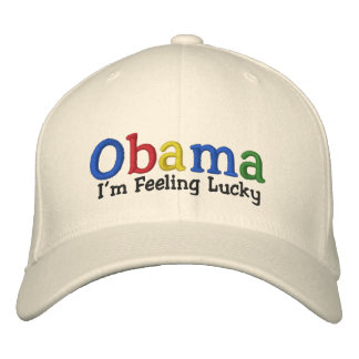Lucky Barack Obama Embroidered Hat