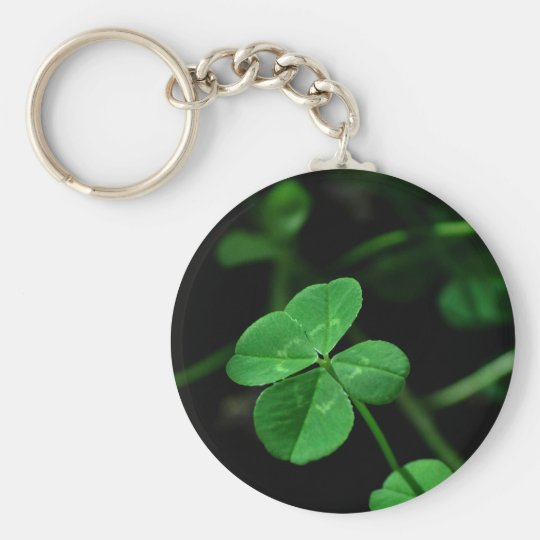 Lucky Basic Round Button Key Ring