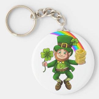 Lucky Bitcoin Rainbow Leprechaun Key Ring