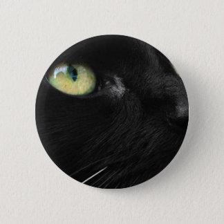 Lucky Black Cat 6 Cm Round Badge