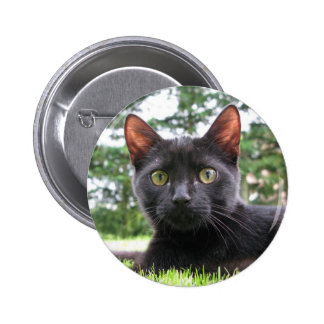 Lucky Black Cat 6 Cm Round Badge