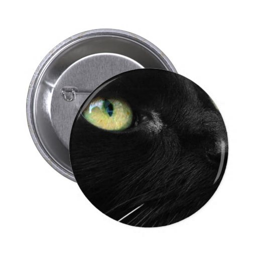 Lucky Black Cat Pinback Button