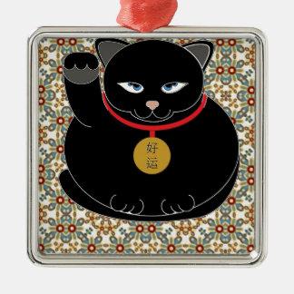 Lucky Black Cat Christmas Ornament