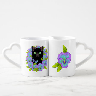 Lucky Black Cat Lover Adorable Nesting Mugs Lovers Mug
