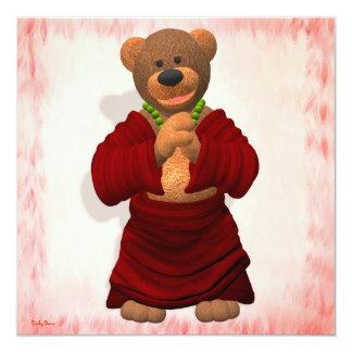 Lucky Buddha Bear Custom Invitation