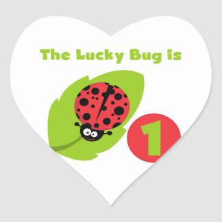 Lucky Bug 1st Birthday T-shirts and Gifts Stickers
