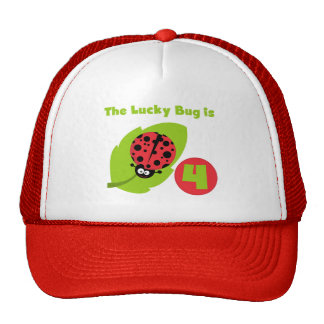 Lucky Bug 4th Birthday T-shirts and Gifts Cap