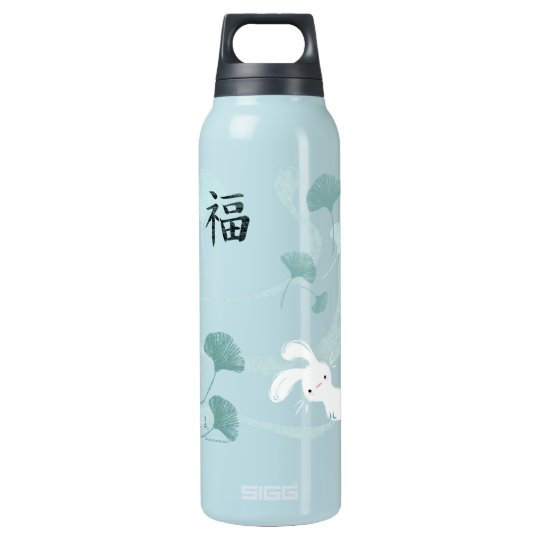 Lucky Bunny Teal 5L) Insulated Water Bottle
