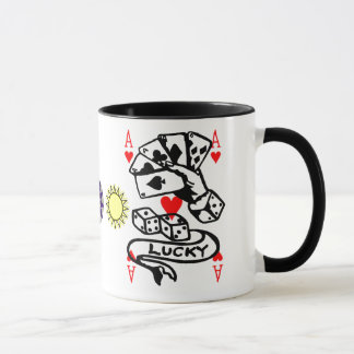 Lucky Cards In Multi colors Mug