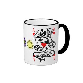 Lucky Cards Ringer Mug