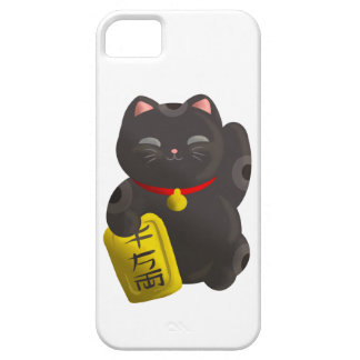 Lucky Cat Black Barely There iPhone 5 Case