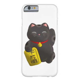 Lucky Cat Black Barely There iPhone 6 Case