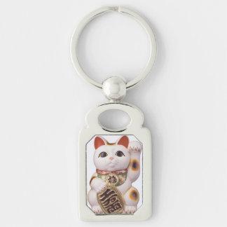 Lucky Cat Charm Key Ring